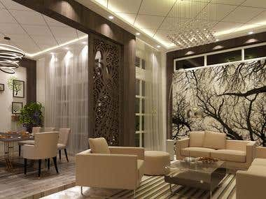 Drawing / Dining Interior Design