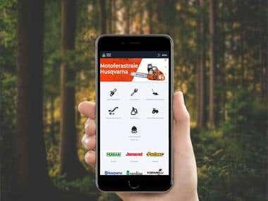Husqvarna Partner Ecommerce Website
