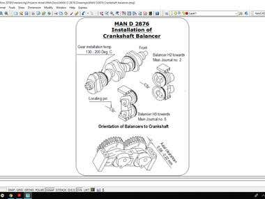 Vector Drawings for Engine O/H Manual using AutoCAD