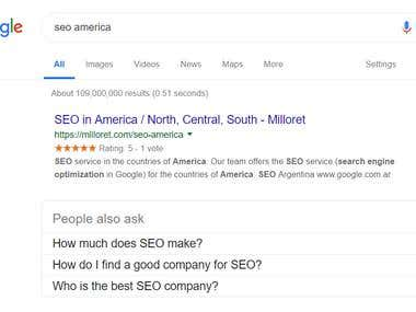 We are TOP SEO company in America