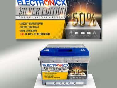 Car battery label design