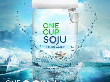 Soju water poster design