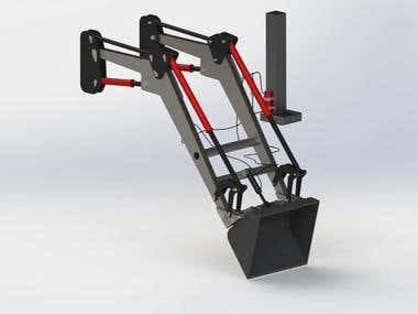 Project of unmanned replacement of accessories in loader