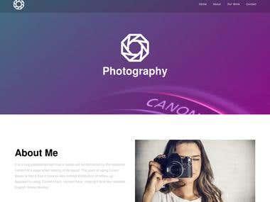 Simple Photographer website