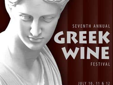 Greek Wine Festival Poster