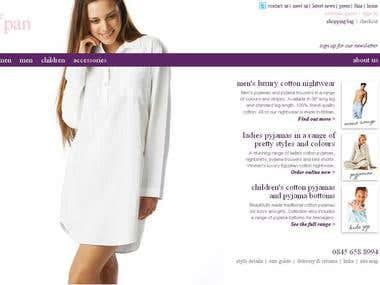 Magento powered e-commerce website