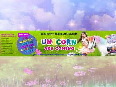 Social Media Cover Design for Unicorn Event