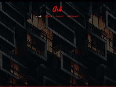 Architect web page