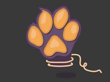 Cat's paw / Illustration
