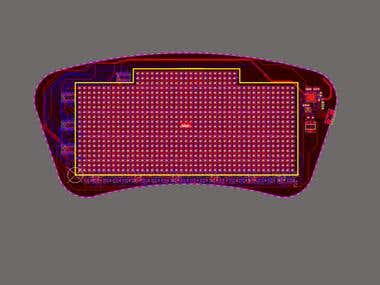 Flex PCB with LED