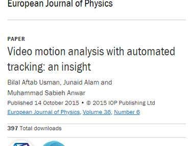 Paper in European Journal of Physics