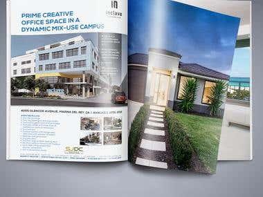 Ad design for upscale real estate developer