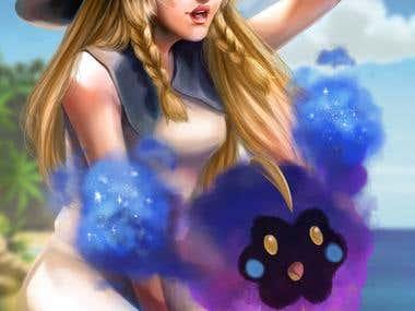 Full photoshop illustration