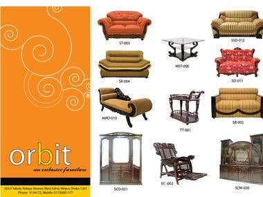 trifold A4 product catalog