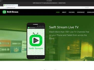 SwiftStream Site