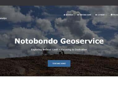 Developed Notobondo Geoservice Website