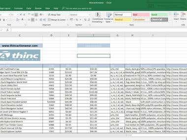 Data entry work .