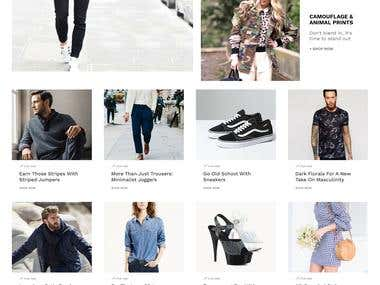 Landing Page:- Menage Outlet