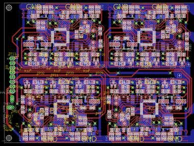 Double sided 4x BLDC electronic speed controller