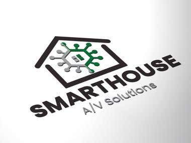 Smart house logo design