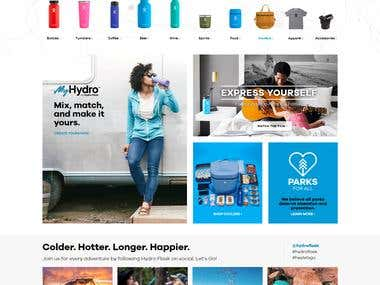 Hydro Flaxk eCommerce WebSite