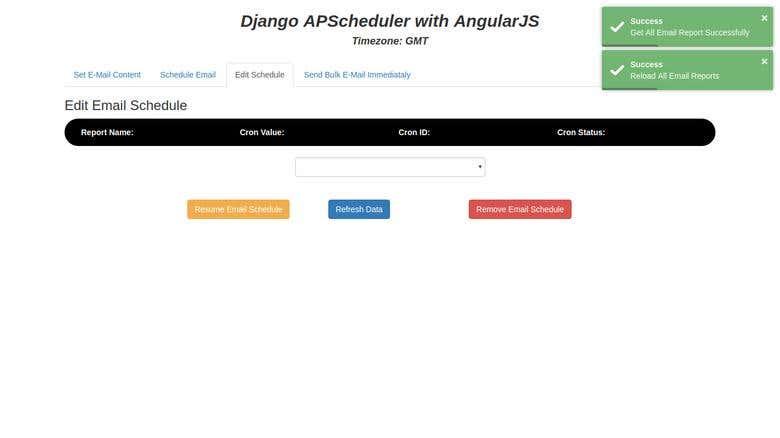 Django APScheduler AngularJS | Freelancer