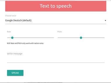 Text to speech multi browser extension