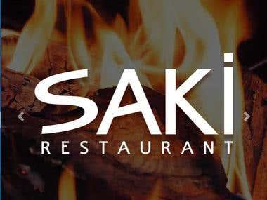 Denizli'nin Ünlü Saki Restorant'ın Web Site Çaışması