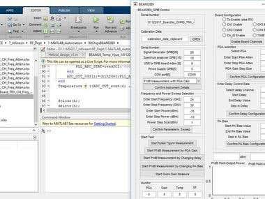 Matlab script + GUI