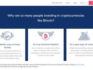 Crypterio - ICO Landing Page and Cryptocurrency in PHP