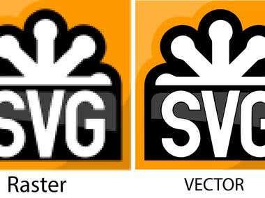 Raster logo to Vector logo