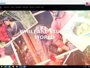 Web Development for WhileArt Studio