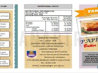 Papinex Fruit Butter Spread (Brochure Design)