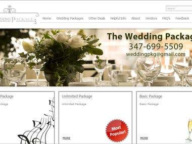 website for wedding service