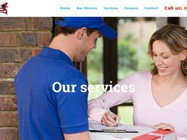 Courier company website