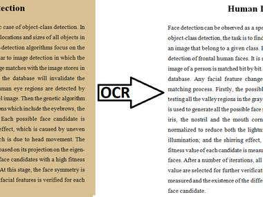 OCR Using image Processing
