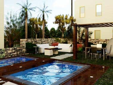 Condominium pool - Landscaping Project