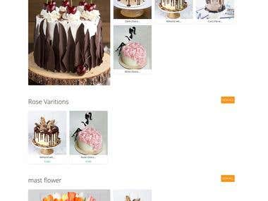 Online cake and flower order system