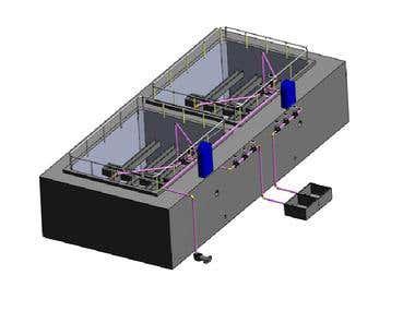 Water Treatment plant 3d model