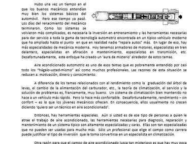 Translation English to Spanish