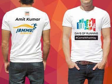 T-shirt Design for 100 days of Running
