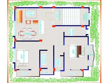 I Will Design Architectural 2d Floor Plan And 3d For Permit