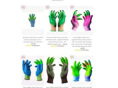 Shopify for Garded Gloves Site