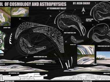 Design of school of cosmology and astrophysics