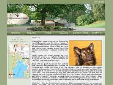 Web design for Kennel