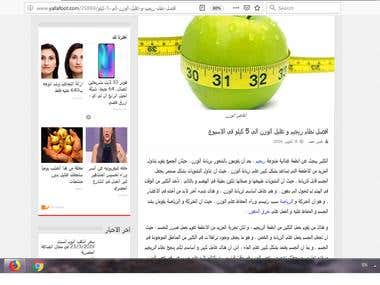 screen shoot to Article