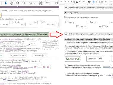 PDF to Google doc Conversion
