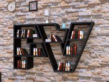 Bookshelf 3D Design