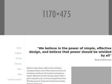 1 page HTML design