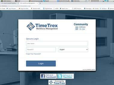 Timetrex install